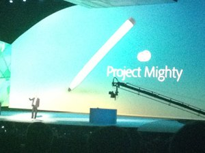 introduction of new tablet pen from Adobe called Project Mighty
