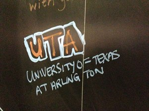 close up of UTA added to the board (did this pretty quickly as I had to rush to my next lab session)