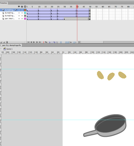 frying dumplings animation
