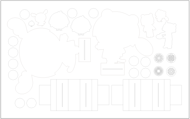 Adobe Illustrator file with the shapes to be cut