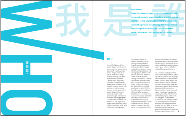 experimenting with enlarging the Chinese characters (who am I)